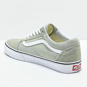 34718ef27ae79 Vans Old Skool Desert Sage/True White Skate Shoes